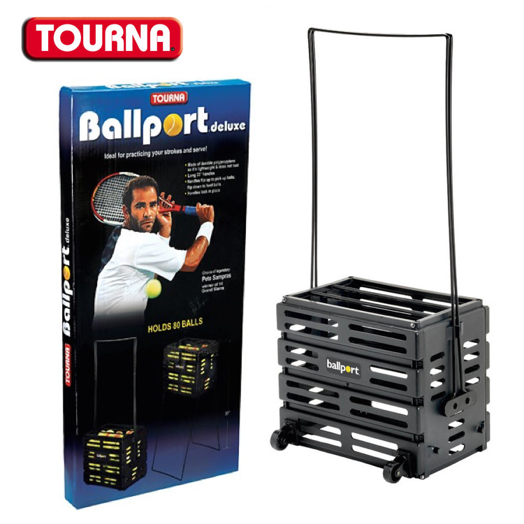 Tourna Sampras Ballport Deluxe with Wheels 80 Balls